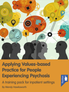 Cover of the book Applying Values-Based Practice for people experiencing Psychosis - A training pack for inpatient settings