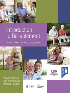 Cover of the book - Introduction to Re-ablement - A work-based learning programme