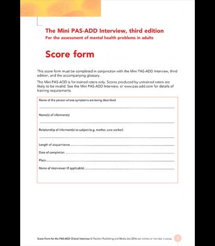 Mini Pas-Add Scoreform