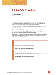 PAS-ADD Checklist