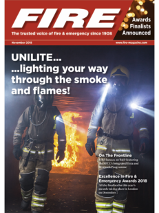 Cover of the magazine FIRE 10 November 2018 - The trusted voice & emergency since 1908