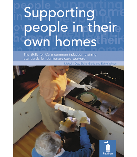 Cover: Supporting people in their own homes workbook