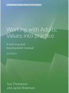 Cover of the book - Working with Adults Values into Practice - Learning From Practice Series