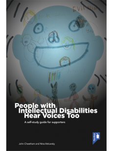 Cover of the self-study guide People with Intellectual Disabilities Hear Voices too