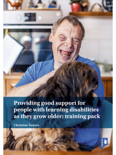Cover of the book - Providing good support for people with learning disabilities as they grow older: training pack