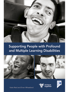 Cover of the training pack Supporting People with Profound and Multiple Learning Disabilities