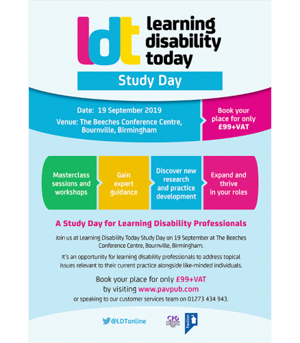 Learning Disability Today Study Day