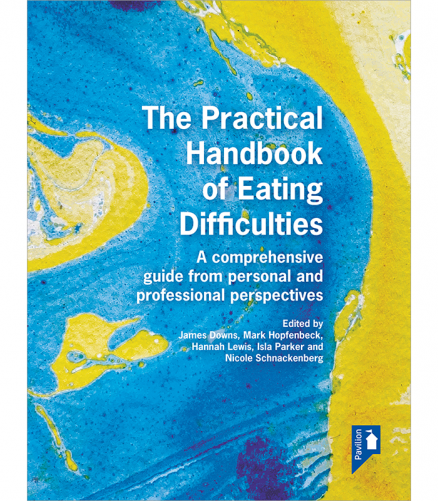 a book cover on practical eating